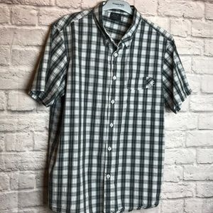 Oakley Shirt Button Down Short Sleeve Sz L Men's